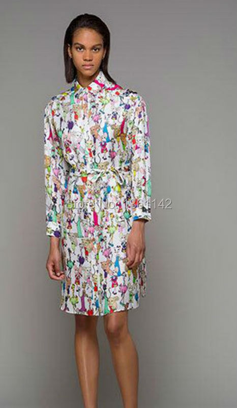 New Famous Brand 100% Silk Dress 2016 Runway Women Dress Free ShippingОдежда и ак�е��уары<br><br><br>Aliexpress