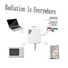 3.5 cm para auriculares radiación electromagnética detector electromagnético de medición del Monitor para el Iphone / Mini Pod Touch