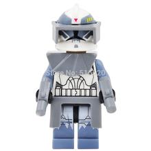 Wholesale Star Wars 7 Minifigures Commander Wolffe Clone Trooper Building Blocks Single Sale 20pcs/lot Set Model Figures Toys