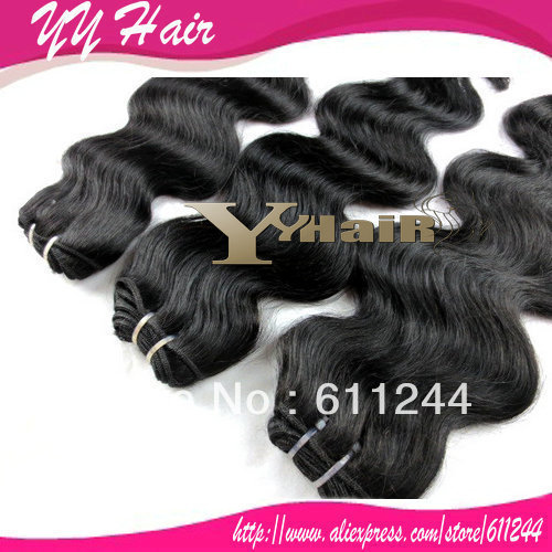 6A grade unprocessed brazilian virgin hair body wave, 3pcs/lot, 100% human hair, Natural Color, DHL Free Shipping