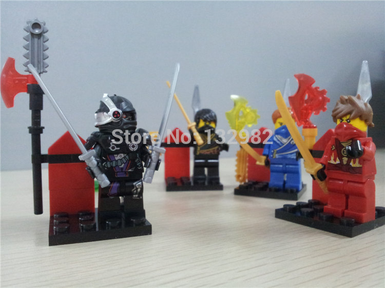 Sale Minifigures Ninjago Baby Toys Learning & Education IQ Exercise Model Building Blocks Action Mini Figures 4sets/pack 0061-4(China (Mainland))