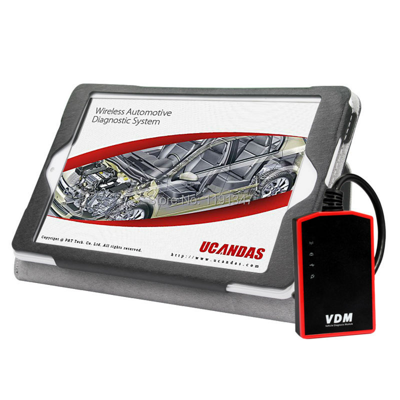 2016 VDM UCANDAS WIFI Full System v3.9 Auto Diagnostic scanner with Tablet PC+66AC USB Inspection Endoscope DHL Free Shipping