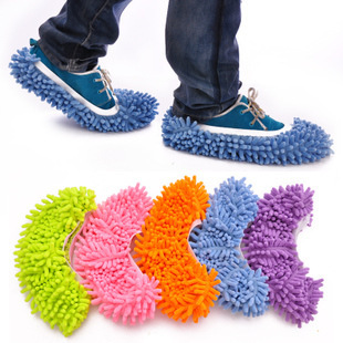 1 Piece Chenille Microfiber Mop Floor Cleaning Lazy Fuzzy Slippers House Home Flooring Tools Shoes Bathroom Kitchen Cleaner(China (Mainland))