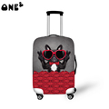 2016 ONE2 Design happy dog pattern printing cover apply to 22 24 26 inch suitcase university