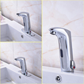 Wholesale and Retail Three Types Basin Mixer Faucet Chrome Finish Deck Mounted Sensor Water Taps