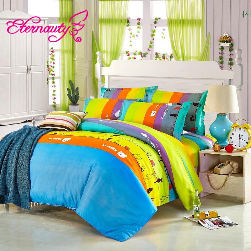 Cartoons Bedroom Sets For Teenagers : Kids Bedding Set Boy Anime Bed Sheets King Size Cartoon TUZKI Bedding ...