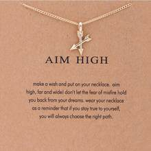 Sale High Quality Geometric Alloy Gold Compass Butterfly Arrow Necklace For Women Girls Choker Pendant Fashion Jewelry(China)