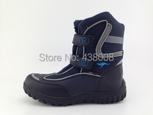 4 Colors Top 2014 Fashion Children Snow Boots Genuine Leather Waterproof Kids Winter Shoes Add Wool