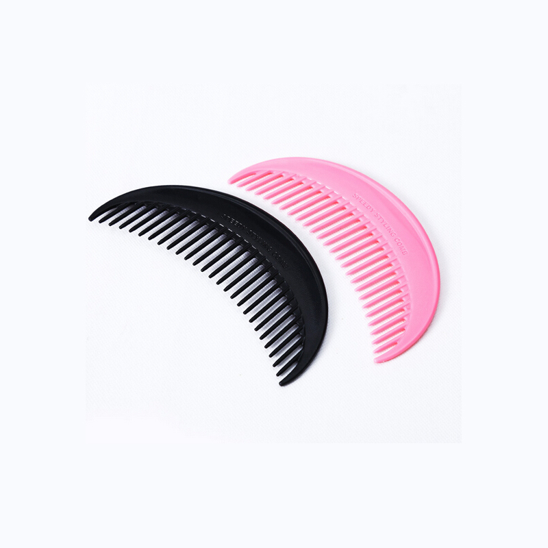 Cute Plastic Black Pink Moon Hair Comb Lovely Beauty Health Hair Styling Tool Hair Brushes High Quality No-static Hair Care Comb(China (Mainland))