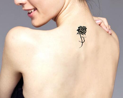 2pcs/lot New Design Rose Flower Flash Tattoo Removable Waterproof Tattoo Stickers Transferable Tattoos Body Art Tattoo A301(China (Mainland))