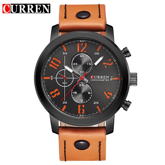 CURREN Роскошные Повседневная Мужчины Часы Аналоговые Военные Спортивные Часы Кварцевые Мужчины Наручные Часы Relogio Masculino Montre Homme 8192