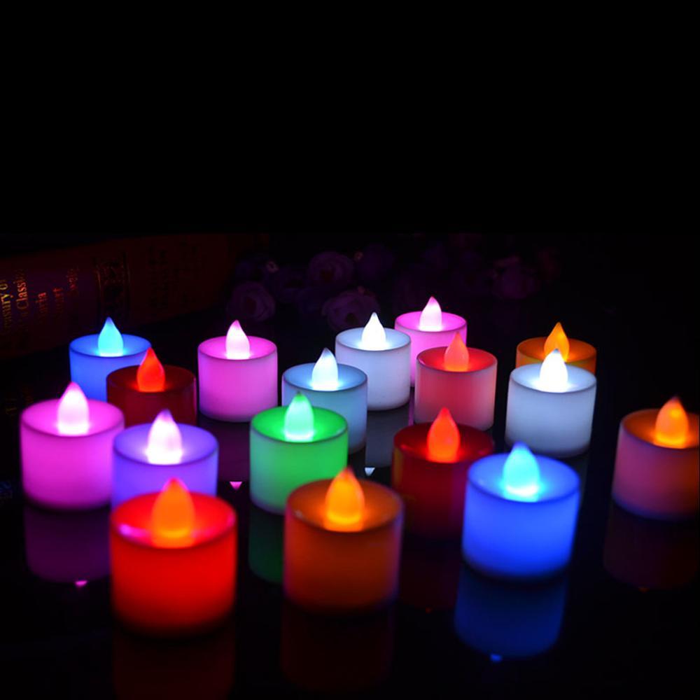 good quality 6 colors candle shape led fliker flameless