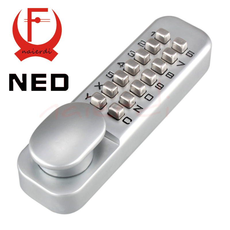 NED Zinc Alloy Miniature Mechanical Ciper Lock Waterproof Numberal Door Digital Lock Keyless Password Non-Power Locks For Home(China (Mainland))