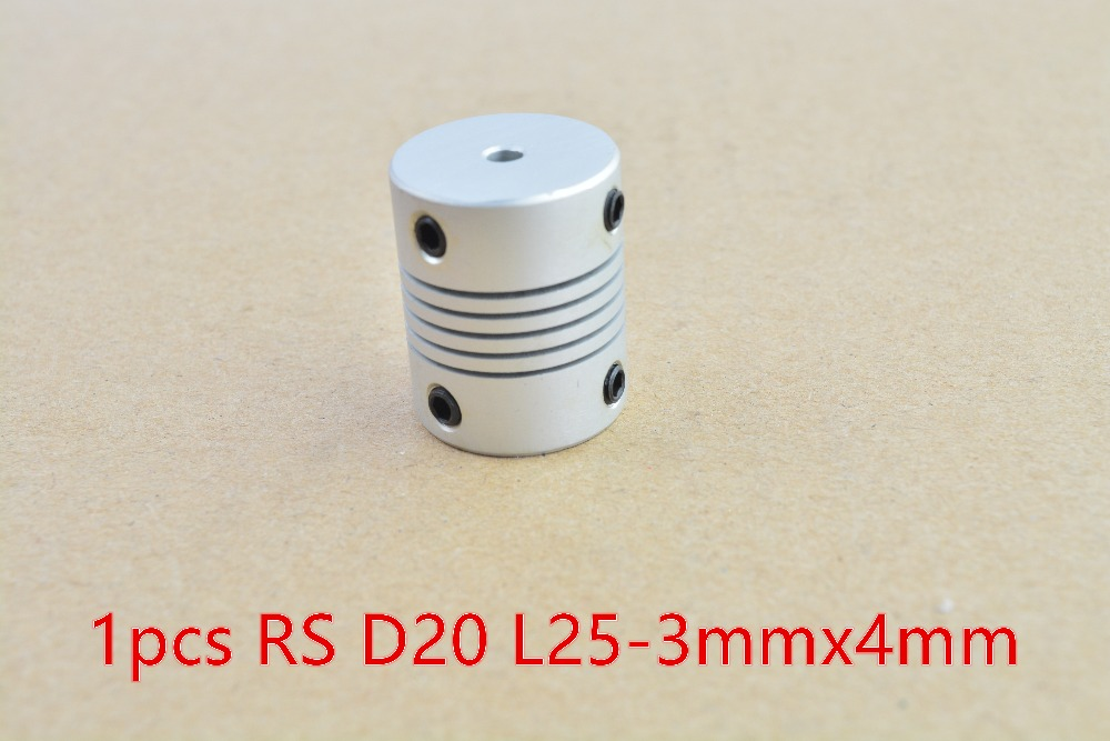 Buy 3mmx4mm d20 l25 shaft coupler for Add a motor d20