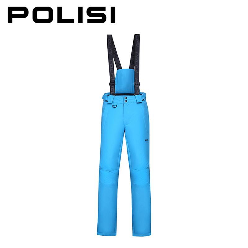 POLISI Professional Men's Ski Bib Pants Waterproof Windproof Snowboarding Snow Skiing Pants Winter Warm Outdoor Sport Trousers