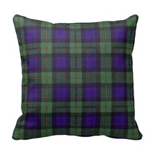 Brown Macewen Scottish Clan Tartan Plaid Throw Pillow Case (Size: 20″ by 20″) Free Shipping