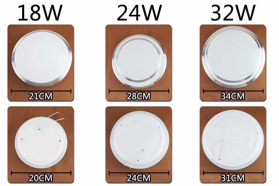 Светодиодный светильник LED + 18w 24w 32w 110V 265V 8.1 13,7