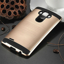 Buy LG G3 Case D855 Brushed PC + Soft Silicone Hybrid Heavy Duty Phone Bags ShockProof Hard Cover Slim Armor Dual Layer for $3.54 in AliExpress store