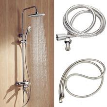 2 MT lange flexible Edelstahl Chrom Duschkopf Wasser Schlauch bathroomtools(China (Mainland))