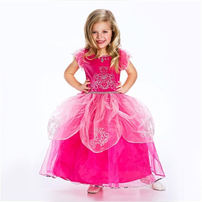 Vestidos cinderella girls wedding dress kids clothes baby for Lil girl wedding dresses