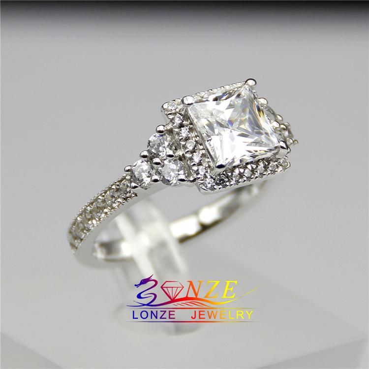2 carat ring setting princess cut halo engagement
