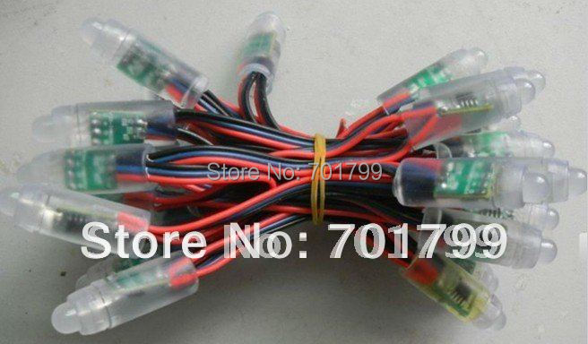 promotion!!! WS2811 IP68 led pixel module,256scale gray,IP68;3wire(red/blue/black)DC5V input;50pcs a string