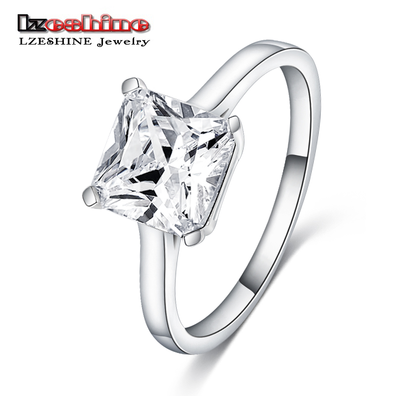 Silver Ring Open Square Shape