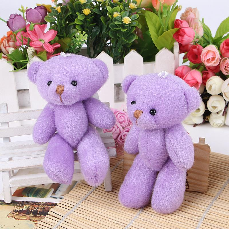 (20 pcs/lot) Plush toy bear teddy bear cartoon bouquet joint bear material doll wedding ceremony gift pupler wedding bouquets(China (Mainland))