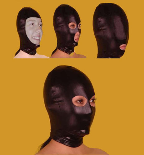 Mask Spandex With Latex Hood Cap Head mask Face Mask Eyes Nose Mouth Open Halloween Mask