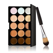 FREE SHIPPING New 15 Colors Contour Face Cream Makeup Concealer Palette Powder Brush  # Free Shipping DHL EMS UPS