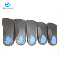 3/4 Length Orthotic Orthopedic insoles with great arch support and Poron Heel Cushioning for flat feet