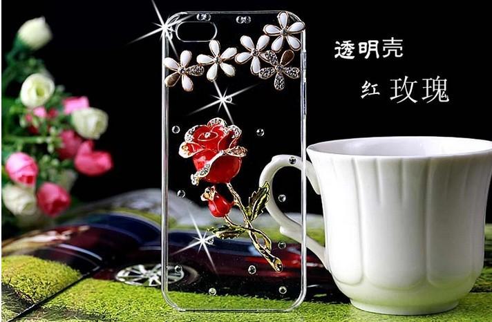2014 New Rhinestone Diamond Case Back Cover Skin Transparent Protector Sony xperia Z1 Compact mini D5503 - merry Qu's store