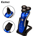 Kemei Waterproof Electric Shaver Three Blade Rechargeable Razor Shaving Machine Beard Hair Nose Trimmer Epilator Face