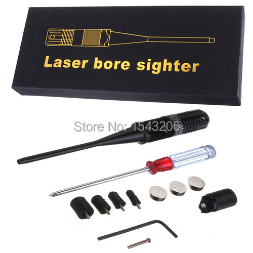 Гаджет  Red Laser Bore Sighter .22 to .50 Caliber Boresighter New Style 3 Battery Collimator None Спорт и развлечения