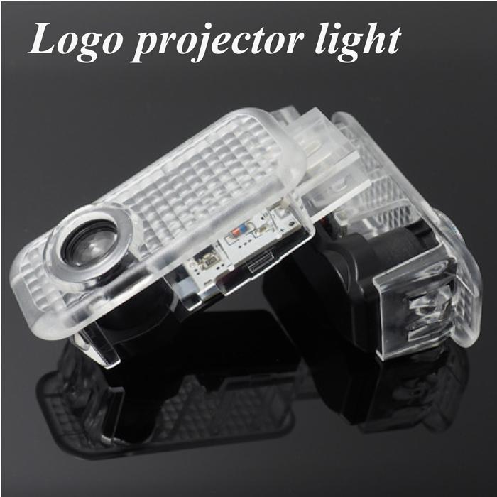 2 X CREE car door light ghost shadow light logo projector For Audi A8 A6L A5 A6 A4L A4 A1 TT Q7 Q5 Q3(China (Mainland))
