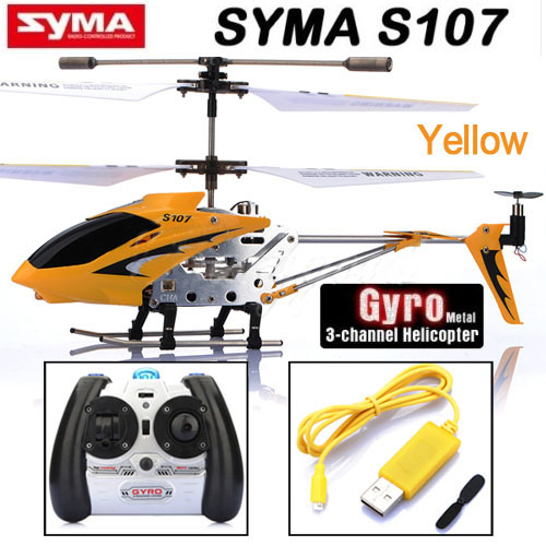 Hot Sale Syma S107g 3.5 Channel Mini Indoor Co-Axial Metal RC Helicopter Built in Gyroscope(China (Mainland))