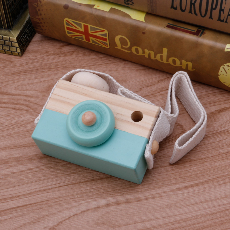 2017New Wooden Camera Toy Pillow With 6 Color For Kids In Children's Room And For Travel Gift