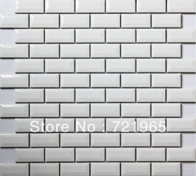 FREE SHIPPING white porcelain tiles kitchen backsplash ceramic mosaic wall tiles PCMT043 bathroom floor tile(China (Mainland))