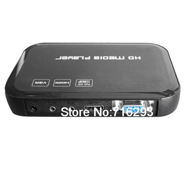 3D 1080P HDMI HD Media Player TV Real Media Player (AV + VGA +HDMI + USB)