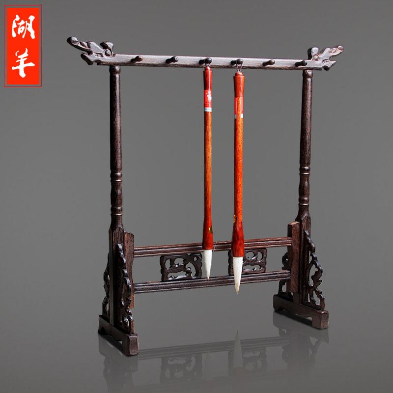 Mahogany wooden brush hang penholder pen resting on four treasures of calligraphy penholder Creative<br><br>Aliexpress