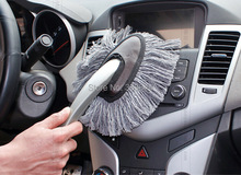 Free Shipping ! 2014 Hot Sale 1PC Multi-functional Car Duster Cleaning Dirt Dust Clean Brush Dusting Tool Mop Gray Brush, CP26(China (Mainland))
