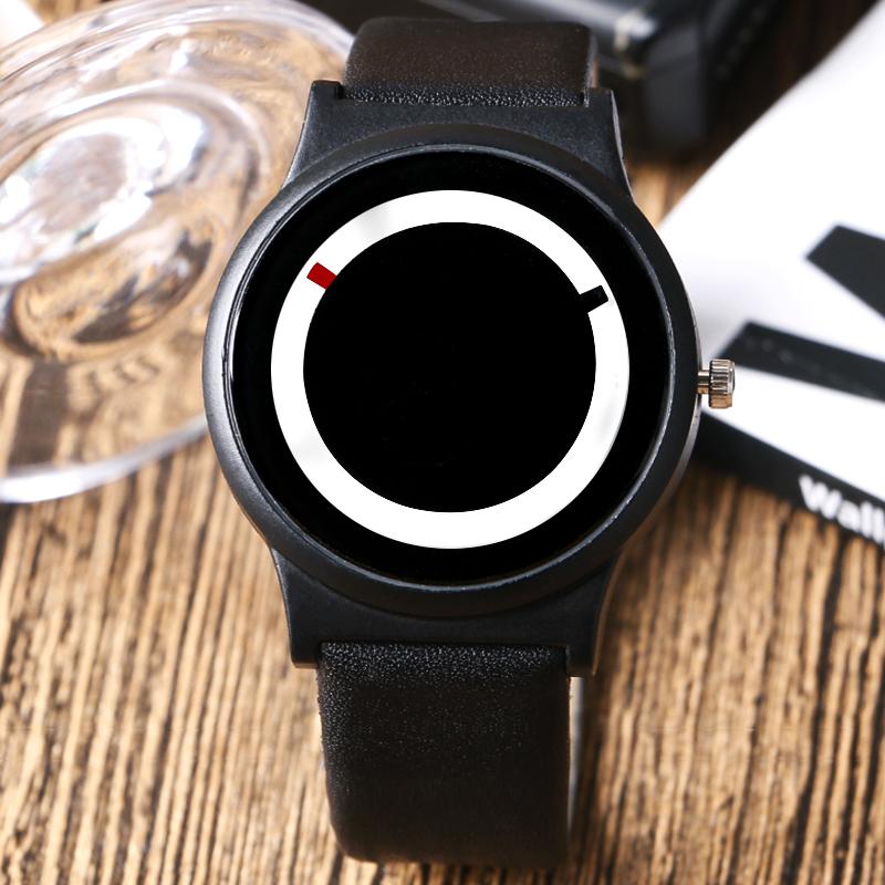 Simple Turntable Dial Design Noctilucent Case Wrist Watch Men Women Quartz Watches Hot Mens watch relogio masculino W04410(China (Mainland))