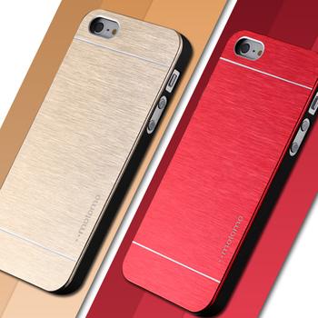 4 4S делюкс алюминиевый металлической щеткой чехол для iphone 4 4S мобильный телефон задняя крышка Motomo логотип для Iphone4 YXF03883