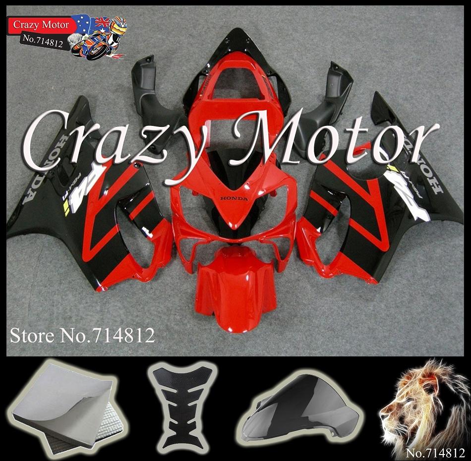 red black Fairing HONDA CBR600F4i 2001 2002 2003 Plastic Bodywork Kit Fit CBR600 F4i 04F W11 - Crazy Motor store
