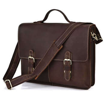 bags made of genuine suede business bag man real leather laptop bags top-handle handbags shoulder Briefcase 7090