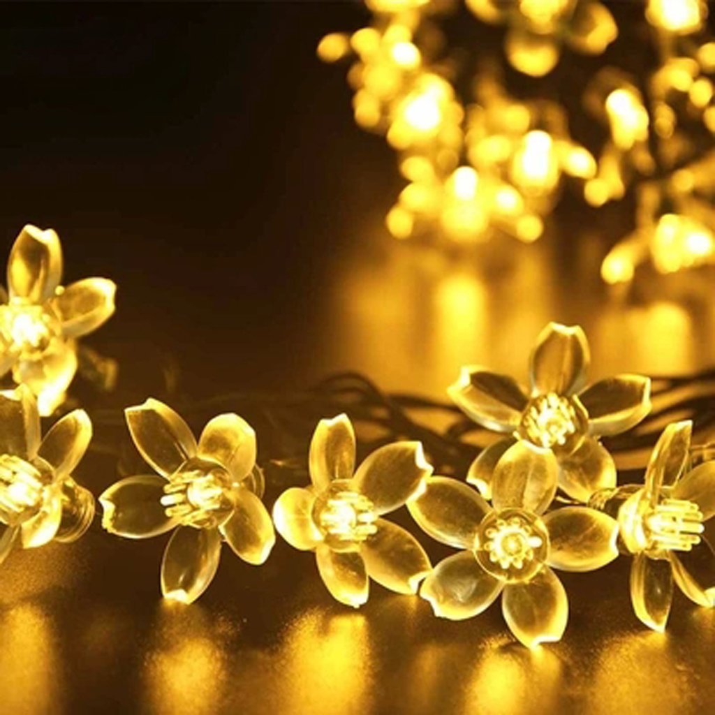 40 LED Battery Decorative Peach Blossom Flower String Light Wedding New Year Diwali Home Decorations Party Supplies Accessories(China (Mainland))