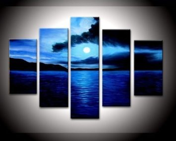 IARTS Framed Sea Scenery Landscape Painting Realistic Oil Painting Handmade Design Ready to Hang(China (Mainland))
