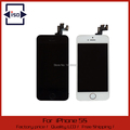 For iPhone 5S LCD Display Touch Screen Digitizer with Home Button and Front Camera Assembly Black