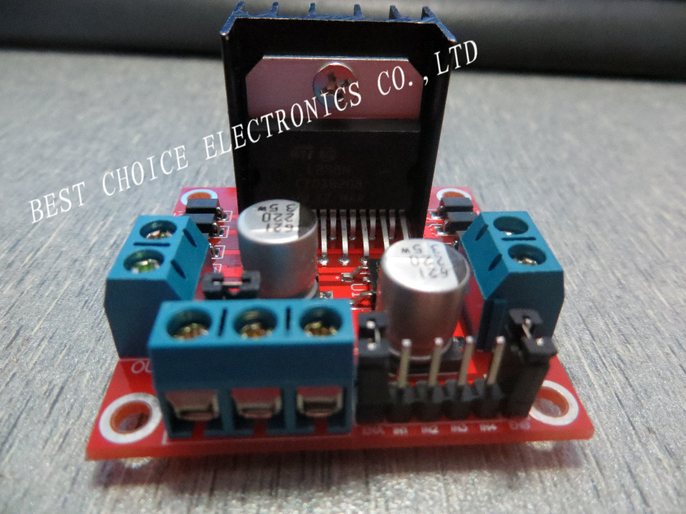 Special promotions 1pcs/lot L298N motor driver board module L298 for arduino stepper motor smart car robot(China (Mainland))
