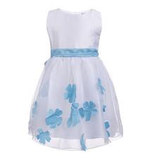 2016 Summer spring princess dress girl tutu dresses party dress girl costume for kids girl flower dress